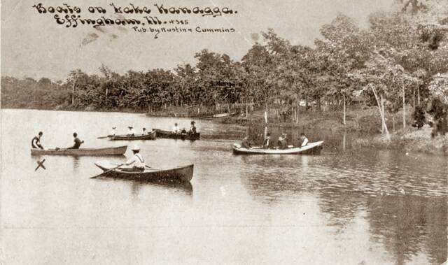 Boats on Lake Kanagga
