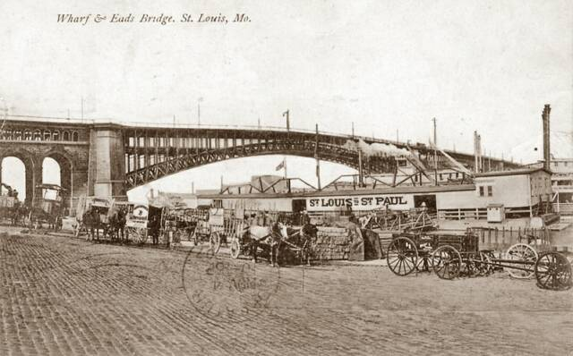 Wharf and Eads Bridge