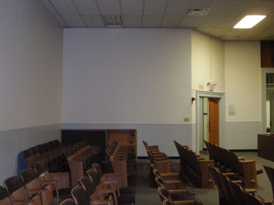 Interior court room seats