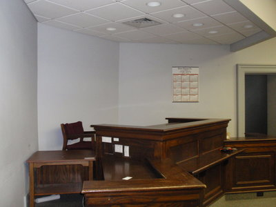 Interior court room bench